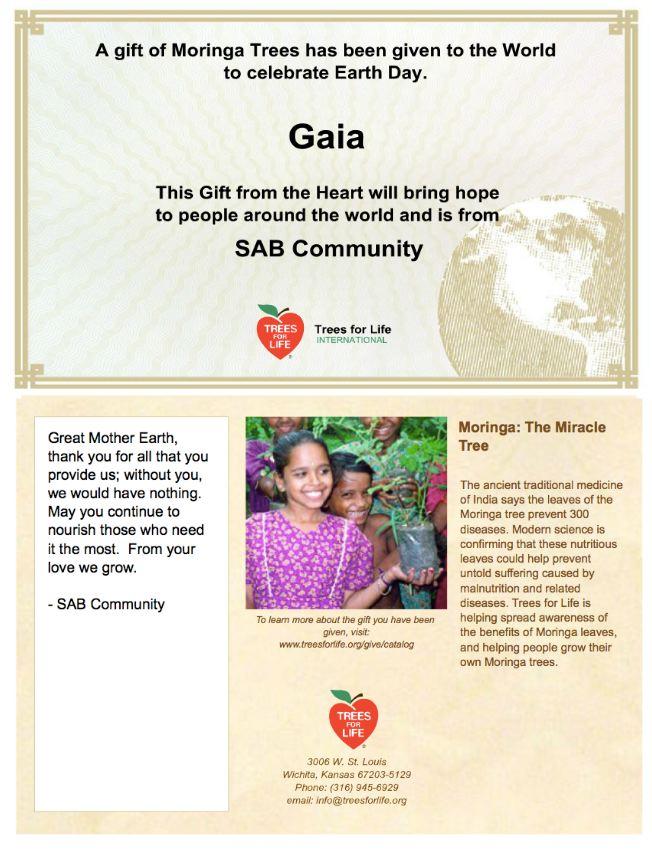 SAB donation