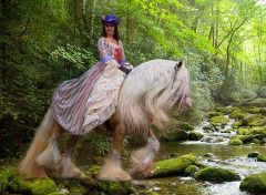Gypsy Woman and Horse